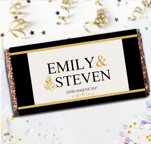 Personalised Wedding Day Chocolate Bar - Guest Table Favours Gift N65